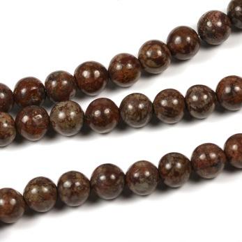 Bruna snowflake pärlor, 6mm