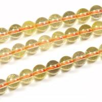 Citrin pärlor, 6mm