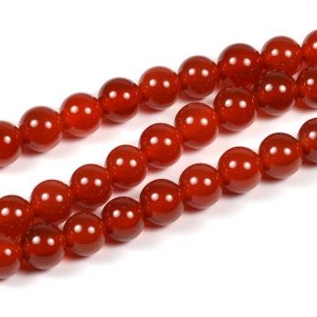 Karneol pärlor, 6mm