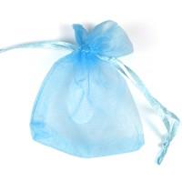 Organzapåse ljusblå 7x9 cm