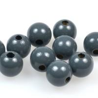 Träpärlor mörkgrå, 15mm