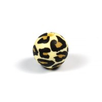 Silikonpärlor 12mm, leopard