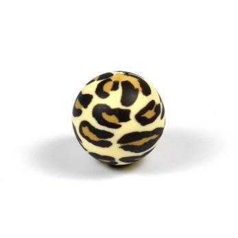 Silikonpärlor 15mm, leopard