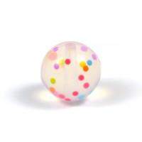 Silikonpärlor 15mm, konfetti