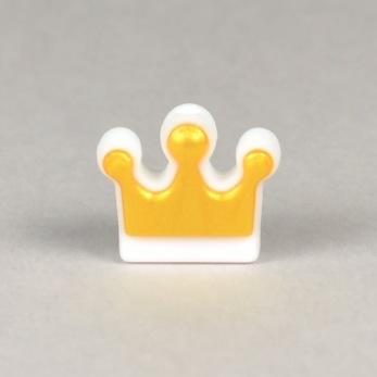 Silikon guldkrona, vit