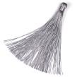 Lång tofs i polyester, 125mm, ljusgrå