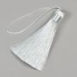 Tofs i polyester, 80mm, vit