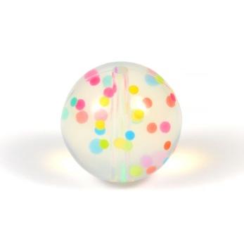 Silikonpärlor 19mm, konfetti