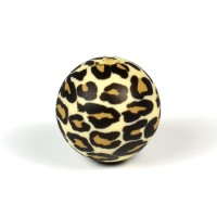 Silikonpärlor 19mm, leopard