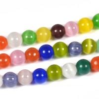 Cat eye pärlor, mixade färger, 6mm