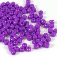 6/0 Seed beads, opaque lila, 4mm