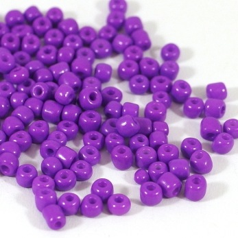 6/0 Seed beads, opaque lila, 4mm