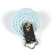Virkat clips, ljusblå