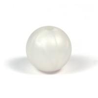 Silikonpärlor 15mm, pärlemor-vit