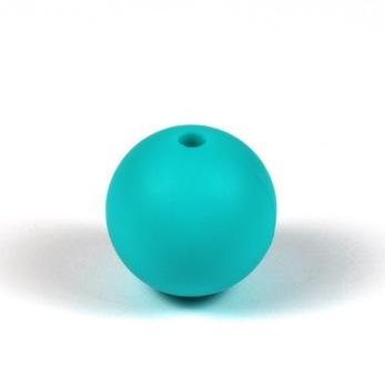 Silikonpärlor 15mm, aqua – utförsäljning