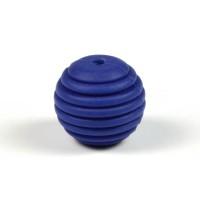 Räfflad silikonpärla 15mm, midnattsblå