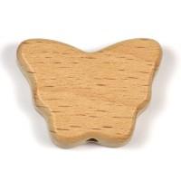 Obehandlad träpärla, fjäril, 34mm