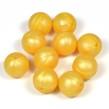 Silikonpärlor 15mm, pärlemor-guld