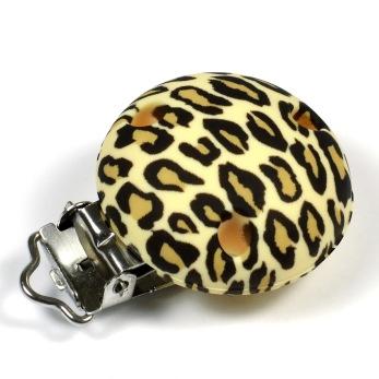 Silikonclips, leopard