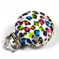 Silikonclips, leopard färg