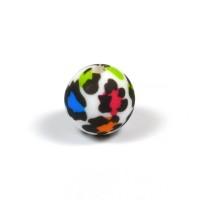 Silikonpärlor 12mm, leopard färg