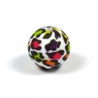 Silikonpärlor 15mm, leopard färg