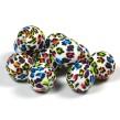 Silikonpärlor 19mm, leopard färg