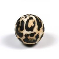 Silikonpärlor 19mm, leopard päls