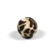 Silikonpärlor 12mm, leopard päls