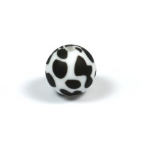 Silikonpärlor 12mm, dalmatiner