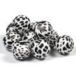 Silikonpärlor 19mm, dalmatiner