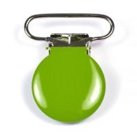 Metallclips rund, olivgrön