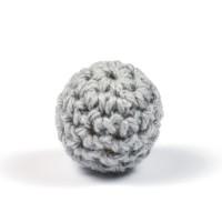 Virkad pärla, grå, 16mm