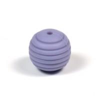 Räfflad silikonpärla 15mm, duvblå