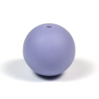 Silikonpärlor 19mm, duvblå