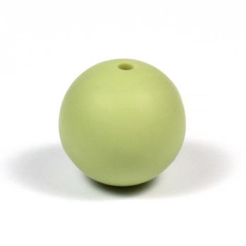 Silikonpärlor 19mm, pistagegrön