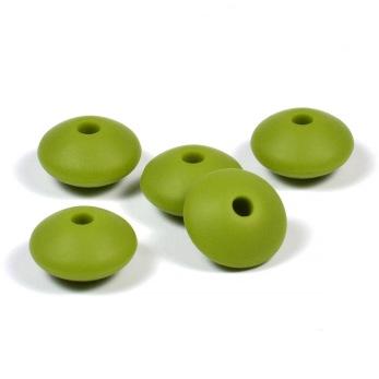 Silikonlinser 12mm, olivgrön