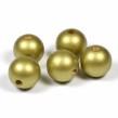Träpärlor guld, 20mm