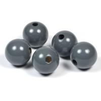 Träpärlor mörkgrå, 20mm