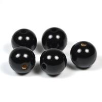 Träpärlor svart, 20mm