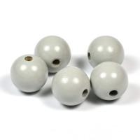 Träpärlor ljusgrå, 20mm