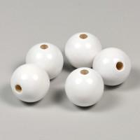 Träpärlor vit, 20mm