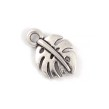 Berlock monstera blad, antiksilver, 10mm, 10st