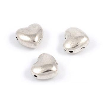 Metallhjärtan, antiksilver, 10mm