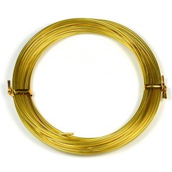 Aluminiumtråd, guld, 1,5mm, 10m