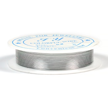 Aluminiumtråd, silver, 0,8mm, 5m