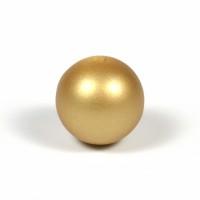Silikonpärlor 15mm, guld
