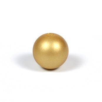Silikonpärlor 12mm, guld