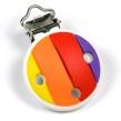 Silikonclips, regnbåge - starka färger