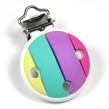 Silikonclips, regnbåge - ljusa färger